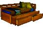 rozkládací postele z masivu