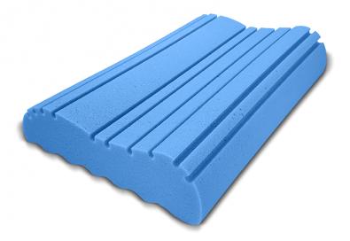 Anatomický polštář VISCO ICE MEDIUM z líné pěny s chladivým efektem