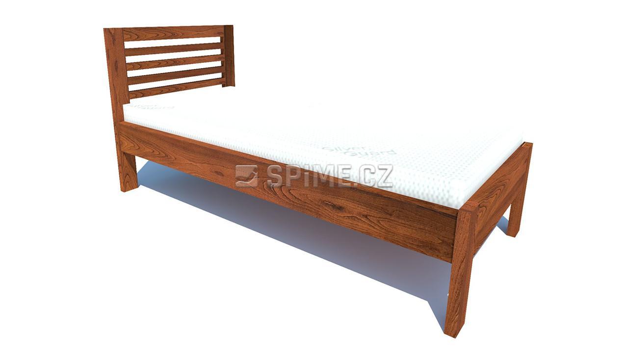 jednolůžková postel z masivního buku Gabriel