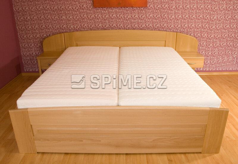 Manželská postel JAN - Olej BIOFA Transparent přírodní odstín