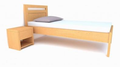 jednolůžková postel z bukového masivu Brener