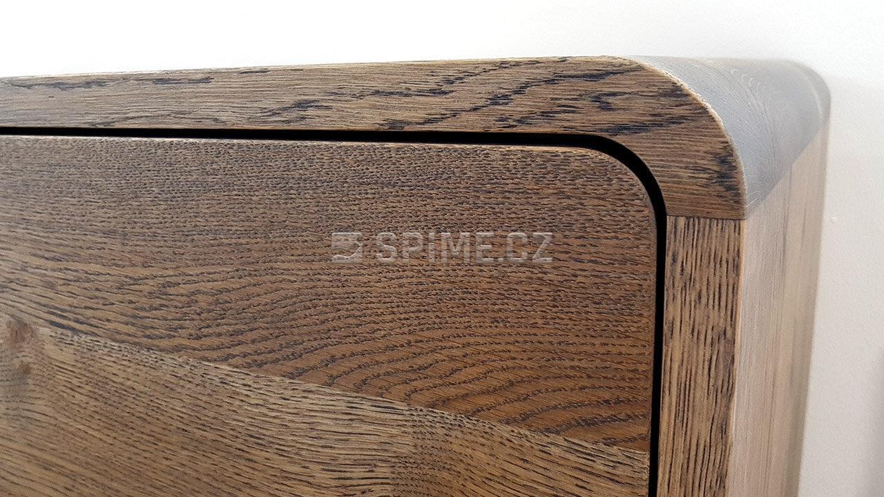Dřevěná komoda z masivu DEIRA, Masiv: Dub, Odstín: Olej Grau Blau #06