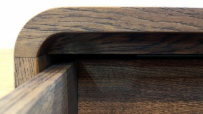 Dřevěná komoda z masivu DEIRA, Masiv: Dub, Odstín: Olej Grau Blau #07