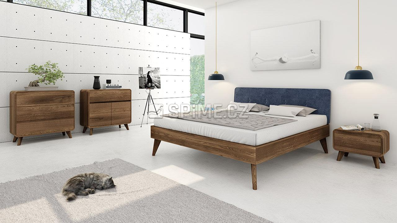Dřevěná komoda z masivu DEIRA, Masiv: Dub, Odstín: Olej Grau #010