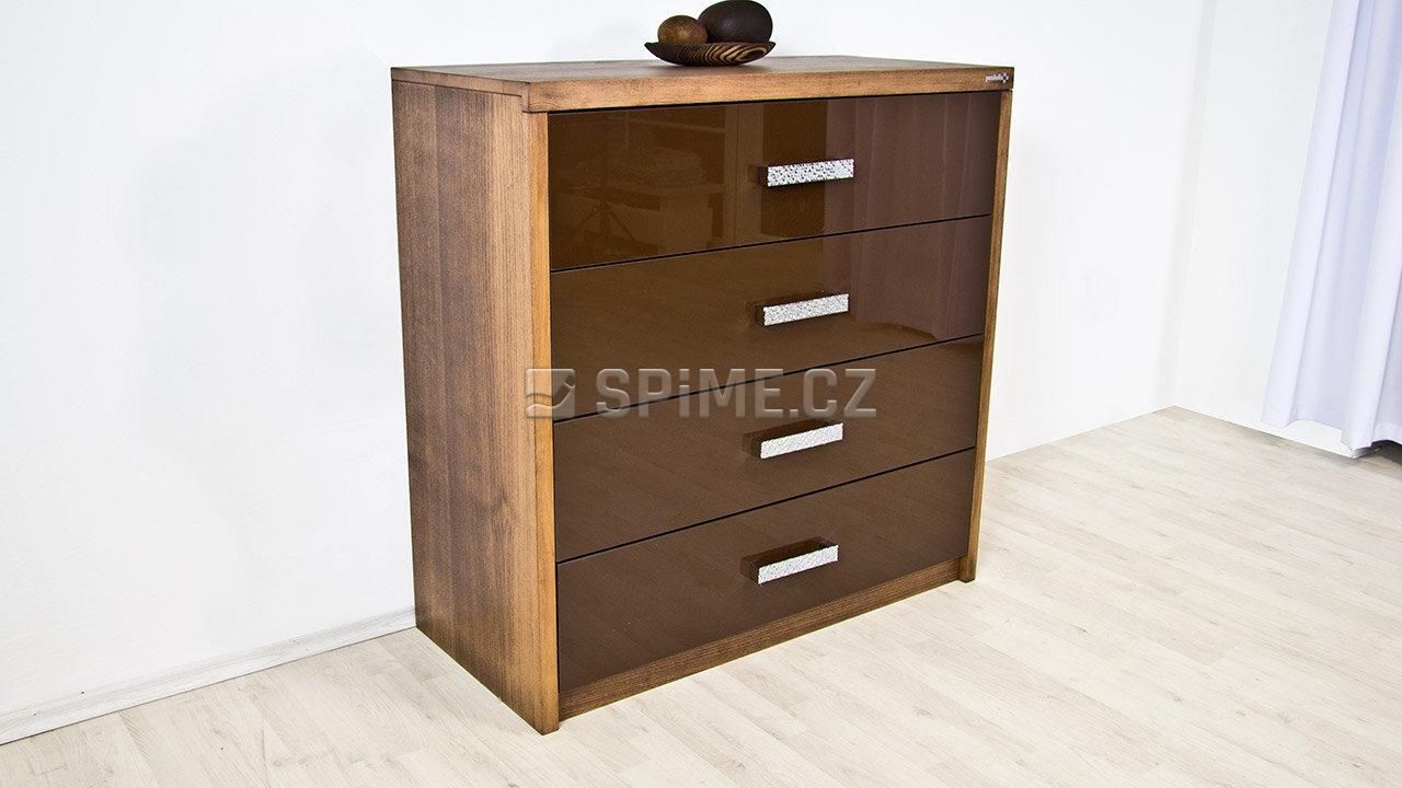 Dřevěná komoda z masivu PORTO 4x zásuvka #02