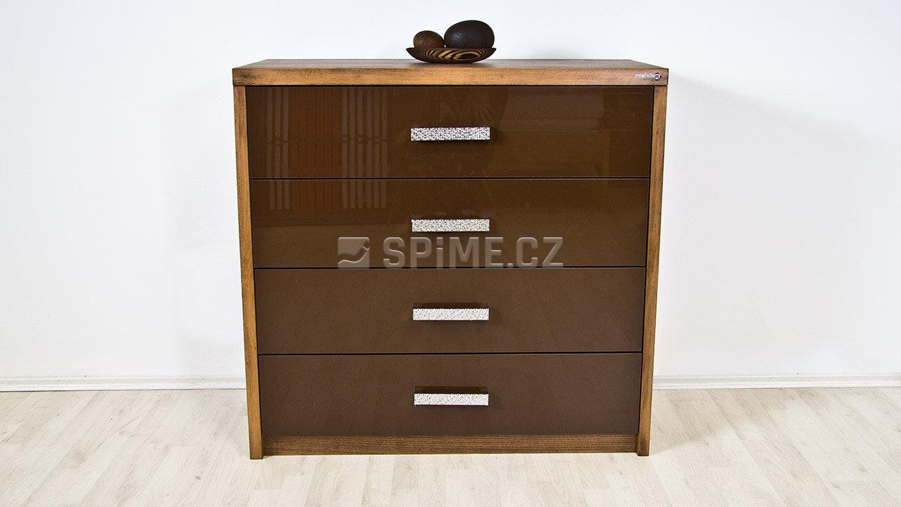 Dřevěná komoda z masivu PORTO 4x zásuvka #03