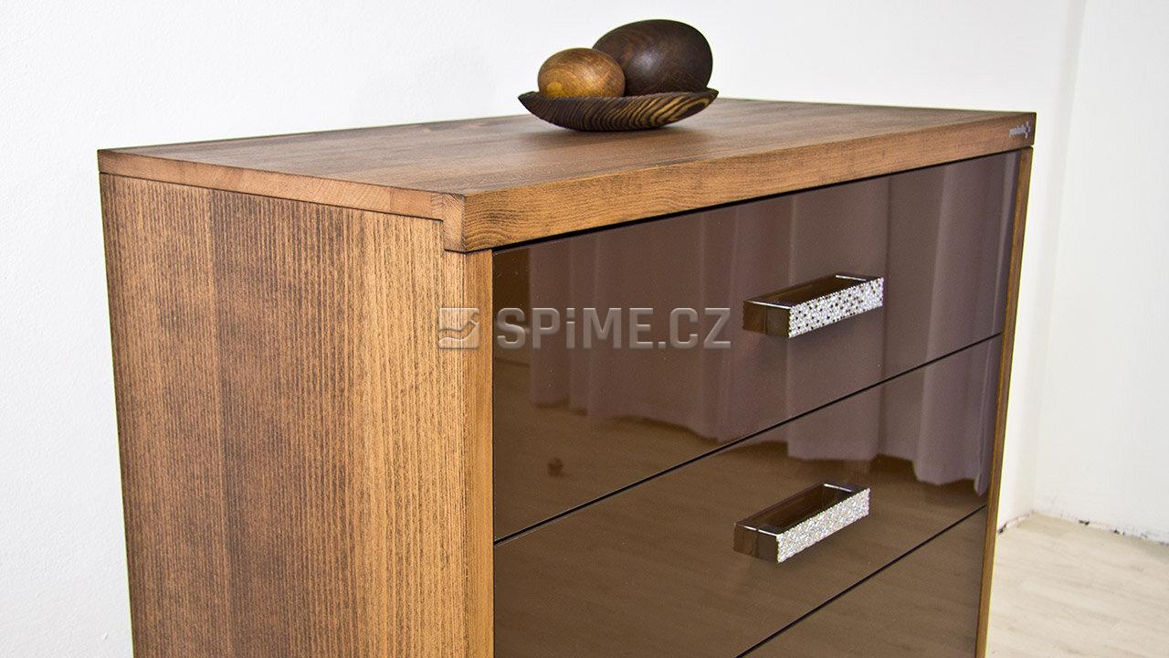 Dřevěná komoda z masivu PORTO 4x zásuvka #04
