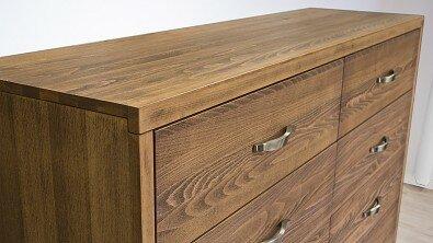 Dřevěná komoda z masivu PORTO DUO 8x zásuvka, Materiál: Masiv Buk, Odstín: Olej Schoko Braun #03