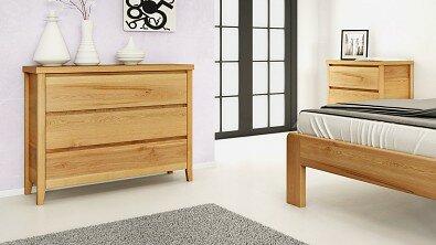 Dřevěná komoda z masivu IBIZA, Materiál: Masiv Dub, Odstín: Olej BIOFA Transparent #03