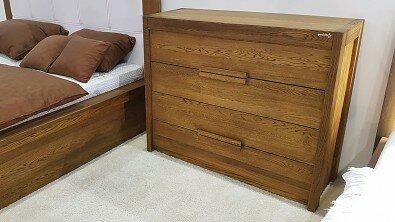 Dřevěná komoda z masivu MODENA, Materiál: Masiv Dub, Odstín: Olej BIOFA Transparent #03