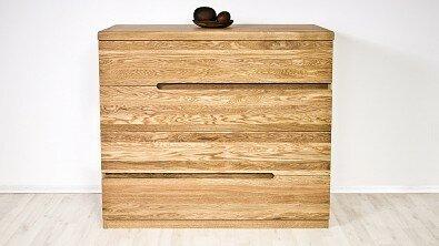 Dřevěná komoda z masivu PALERMO, Materiál: Masiv Dub, Odstín: Olej BIOFA Transparent #04