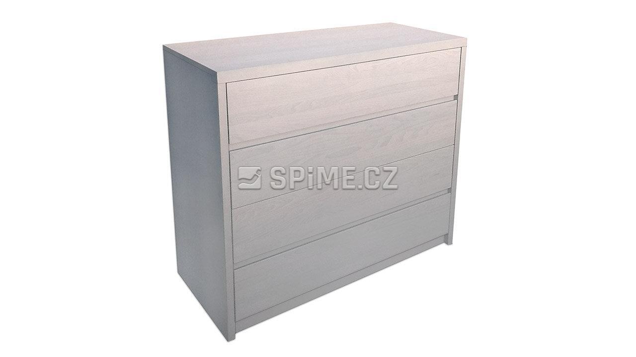 Dřevěná komoda z masivu PORTO 4x zásuvka #11