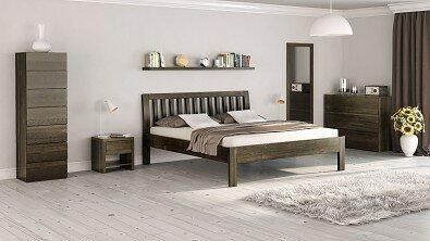 Dřevěná komoda z masivu RENO, Materiál: Masiv Buk, Odstín: Olej Anthrazit #02
