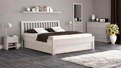 Dřevěná komoda z masivu RENO, Materiál: Masiv Buk, Odstín: Olej Nordic White #04