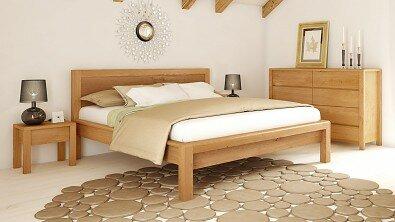Dřevěná komoda z masivu STONE, Materiál: Masiv Dub, Odstín: Olej Transparent #02