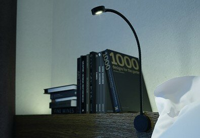 Lampička LOOX LED 2034 USB 12V/17W na plochu - černá