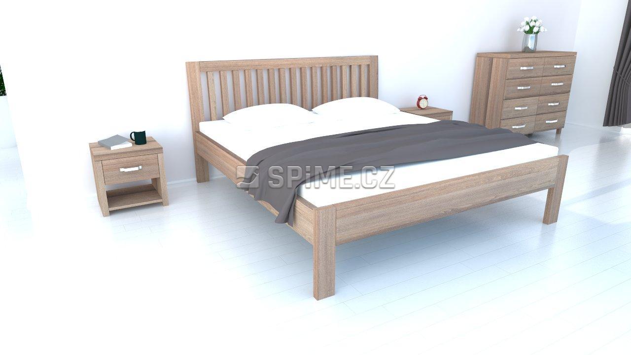 postel z bukového masivu BELNA 4 cm masiv 180x200