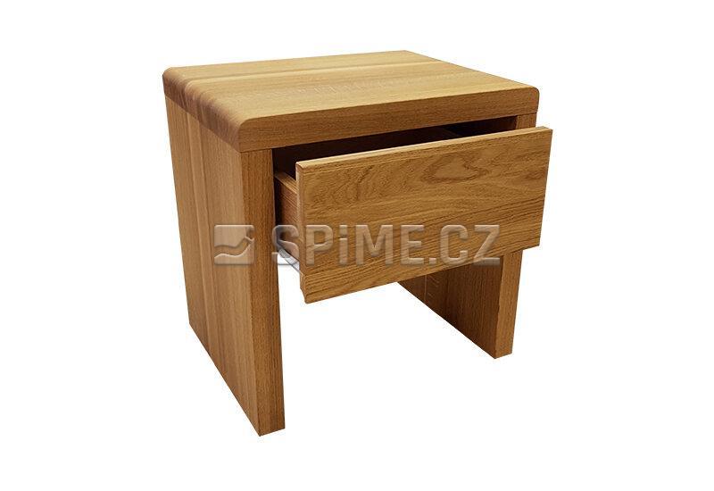 Dřevěný noční stolek z masivu BELAGO