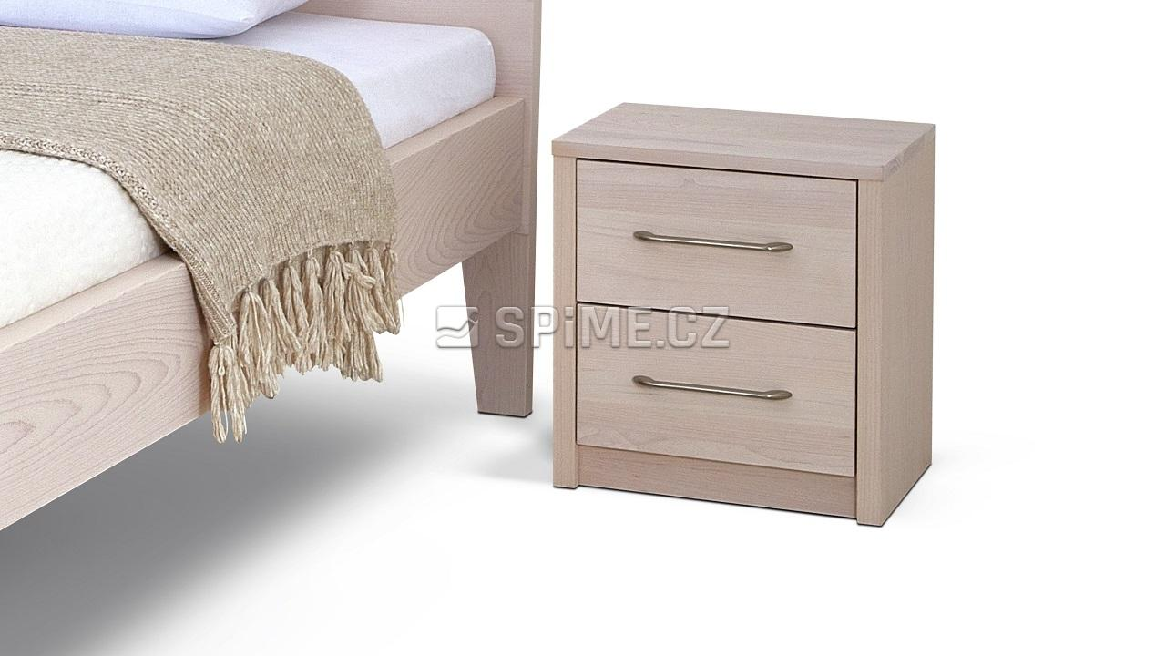 Noční stolek COMODINO DUO, buk, nordic white