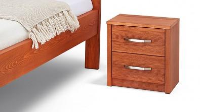 Noční stolek COMODINO DUO, buk, orange braun