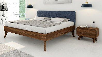 Noční stolek z masivu DEIRA, Materiál: Masiv Dub, Odstín: Olej Nuss Braun#06