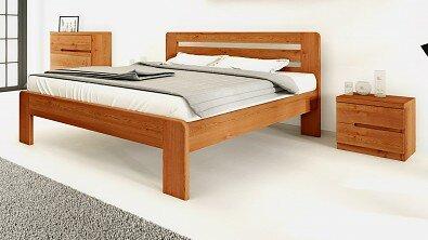 Dřevěný noční stolek z masivu PALERMO, Materiál: Masiv Dub, Odstín: Olej Orange Braun #12