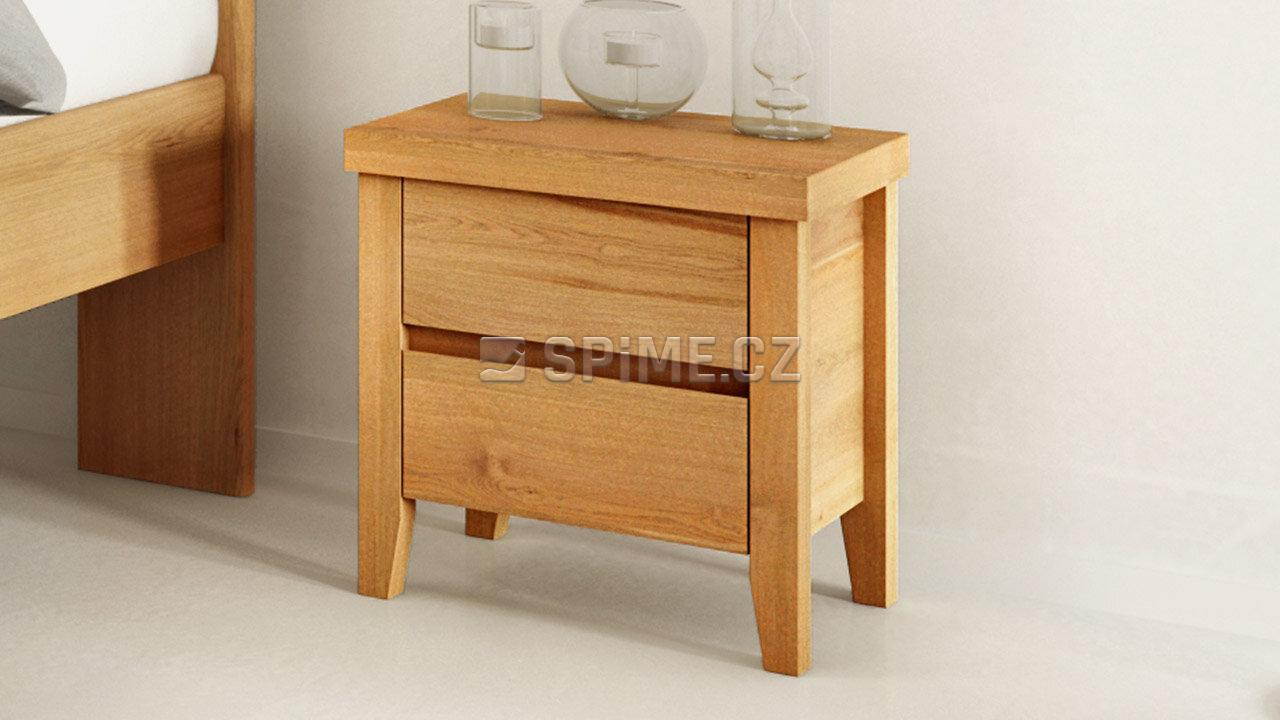 Dřevěný noční stolek z masivu IBIZA, Materiál: Masiv Dub, Odstín: Olej BIOFA transparent #02
