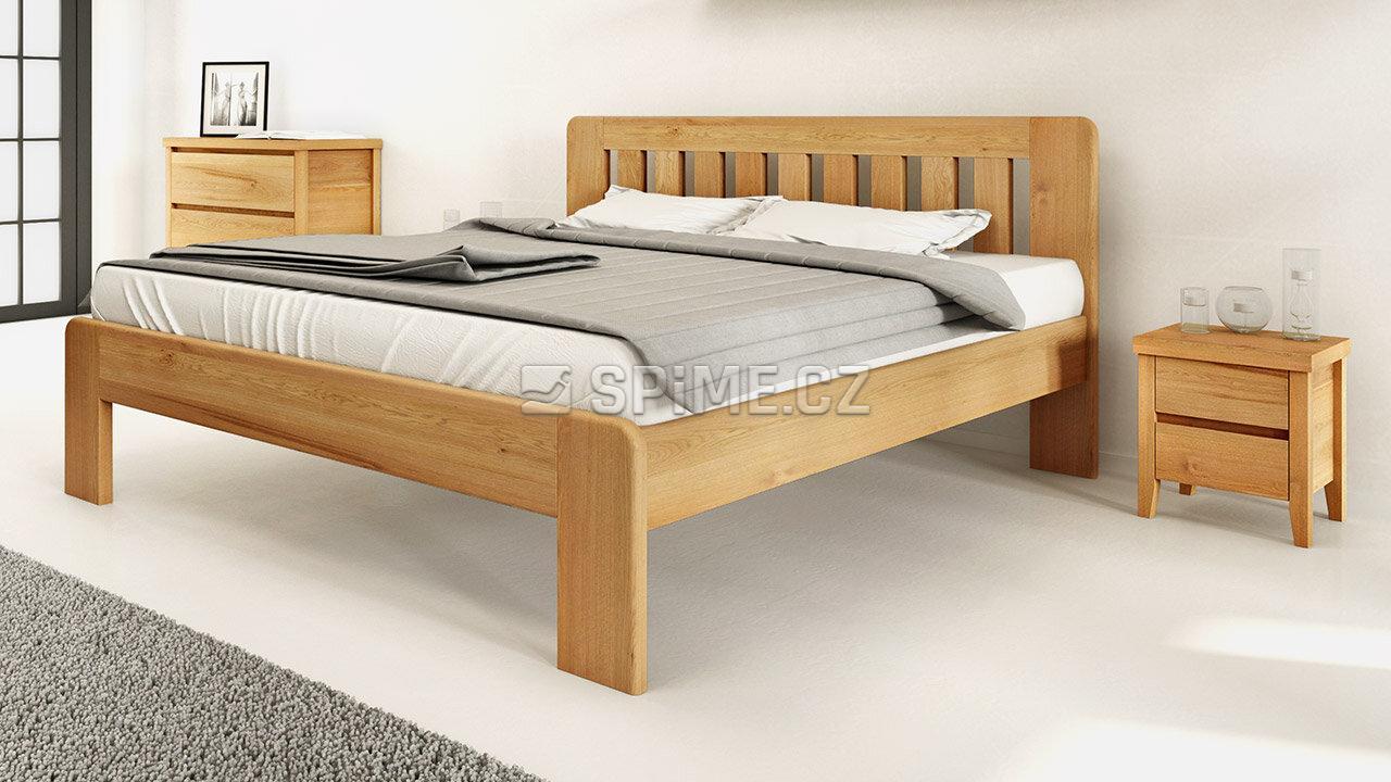 Dřevěný noční stolek z masivu IBIZA, Materiál: Masiv Dub, Odstín: Olej BIOFA transparent #03