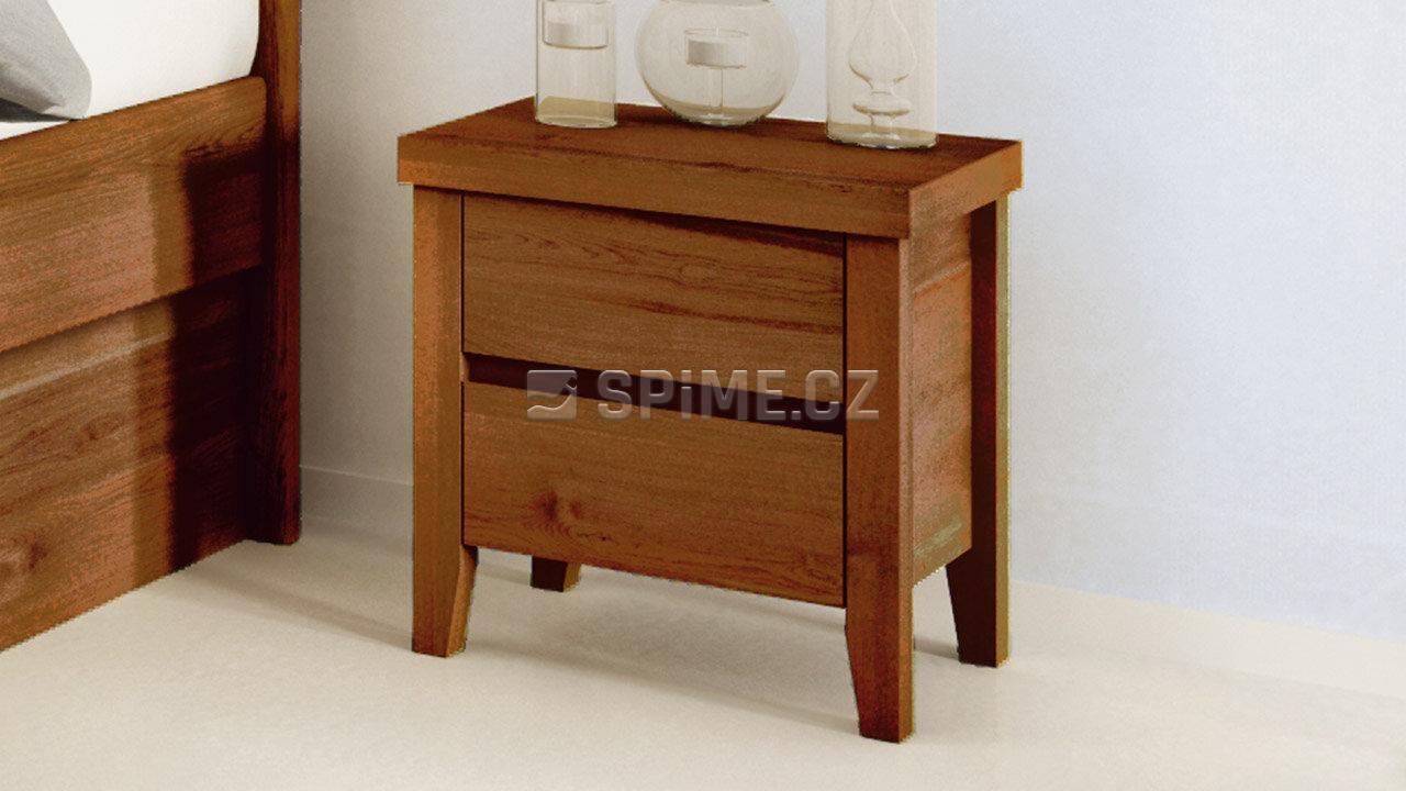 Dřevěný noční stolek z masivu IBIZA, Materiál: Masiv Dub, Odstín: Olej Nuss Braun #04