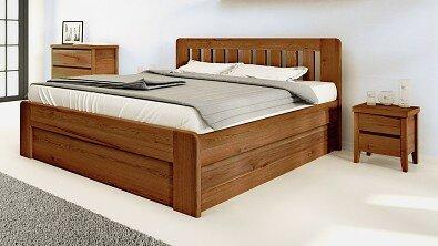 Dřevěný noční stolek z masivu IBIZA, Materiál: Masiv Dub, Odstín: Olej Nuss Braun #05