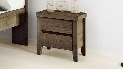 Dřevěný noční stolek z masivu IBIZA, Materiál: Masiv Dub, Odstín: Olej Grau Blau #06