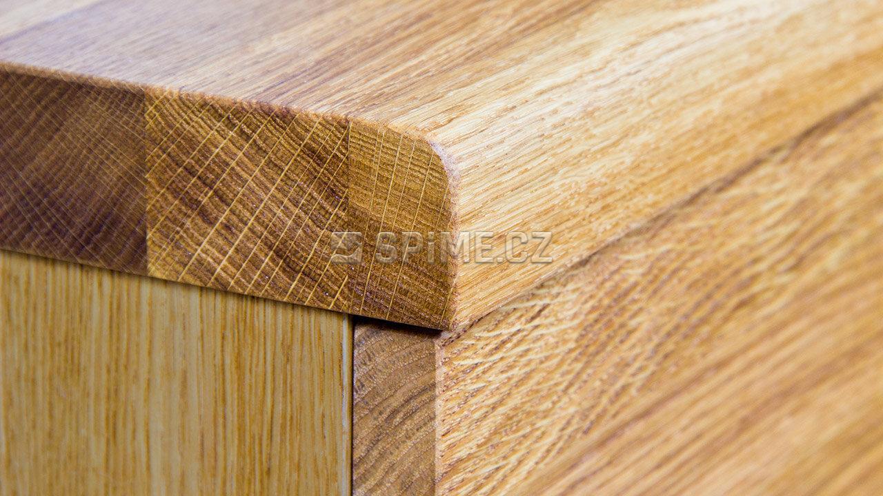 Dřevěný noční stolek z masivu PALERMO, Materiál: Masiv Dub, Odstín: Olej BIOFA Transparent #04