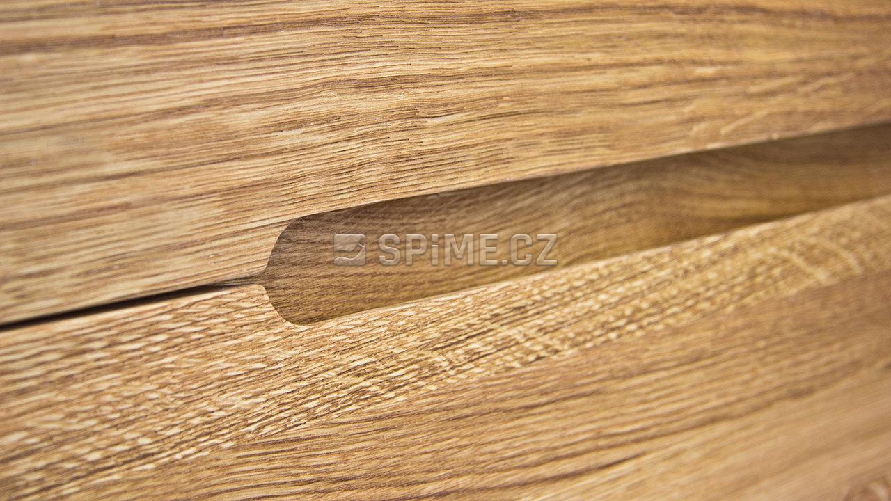 Dřevěný noční stolek z masivu PALERMO, Materiál: Masiv Dub, Odstín: Olej BIOFA Transparent #05