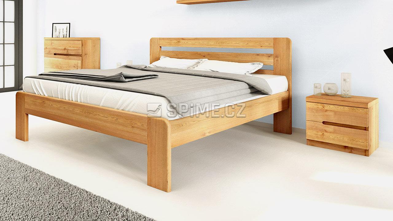 Dřevěný noční stolek z masivu PALERMO, Materiál: Masiv Dub, Odstín: Olej BIOFA Transparent #09
