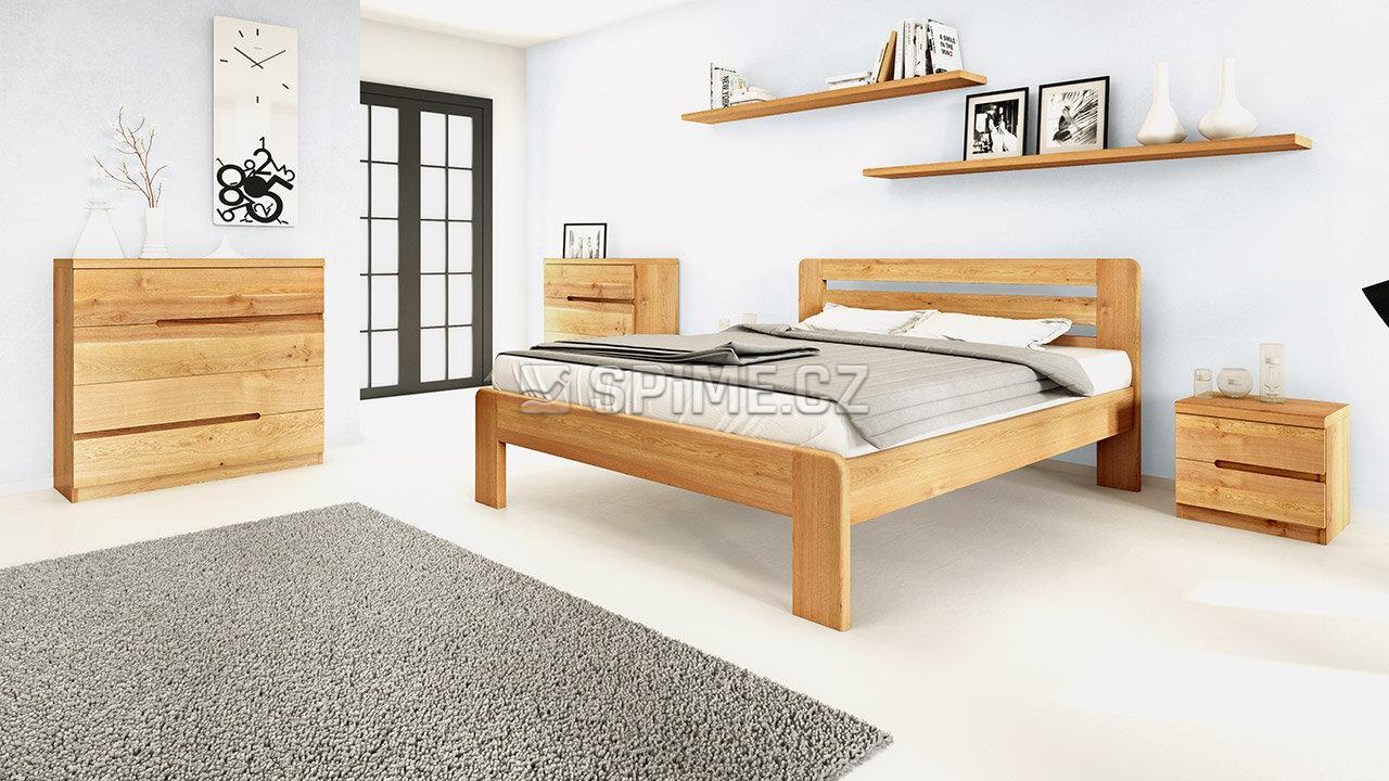 Dřevěný noční stolek z masivu PALERMO, Materiál: Masiv Dub, Odstín: Olej BIOFA Transparent #10
