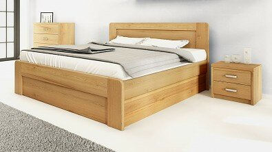 Dřevěný noční stolek z masivu PORTO #05