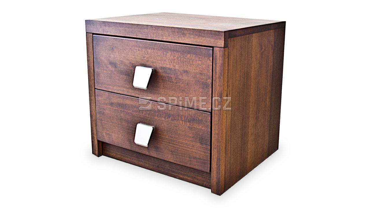 Dřevěný noční stolek z masivu PORTO #04