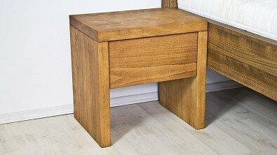 Dřevěný noční stolek z masivu SIENA, Masiv: Buk, Odstín: Olej Světlá Třešeň #05