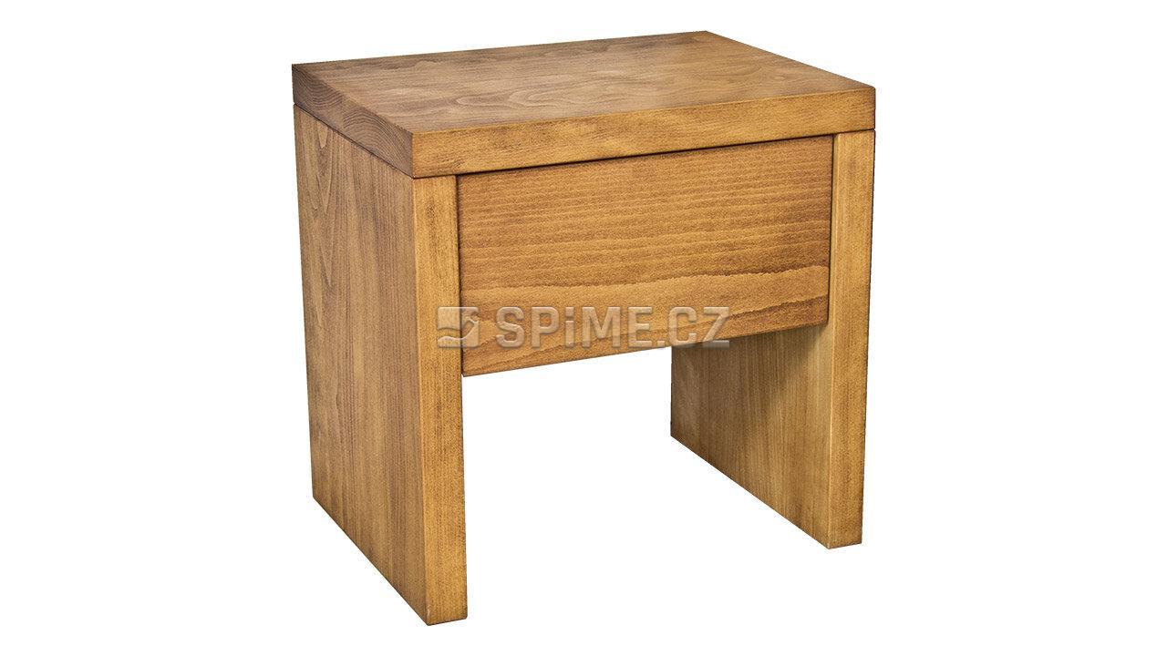 Dřevěný noční stolek z masivu SIENA, Masiv: Buk, Odstín: Olej Světlá Třešeň #02
