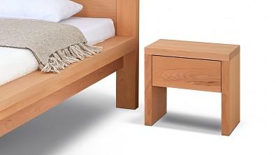 Noční stolek SIENA, buk. transparentní, bez poličky