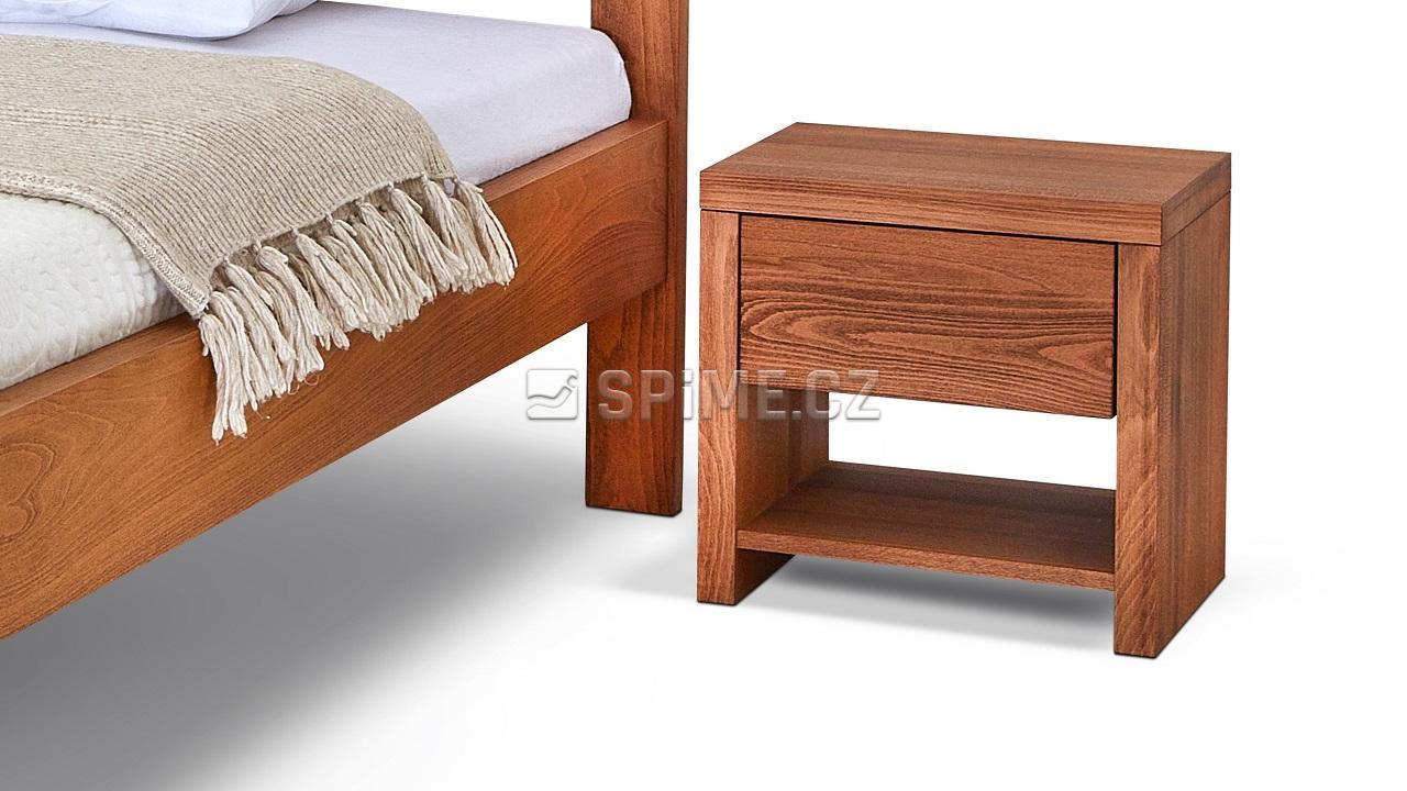 Noční stolek SIENA, buk, Orange Braun, s poličkou