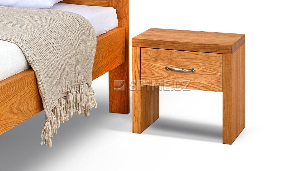 Noční stolek SIENA, dub transparentní