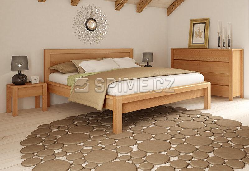 Dřevěný noční stolek z masivu STONE