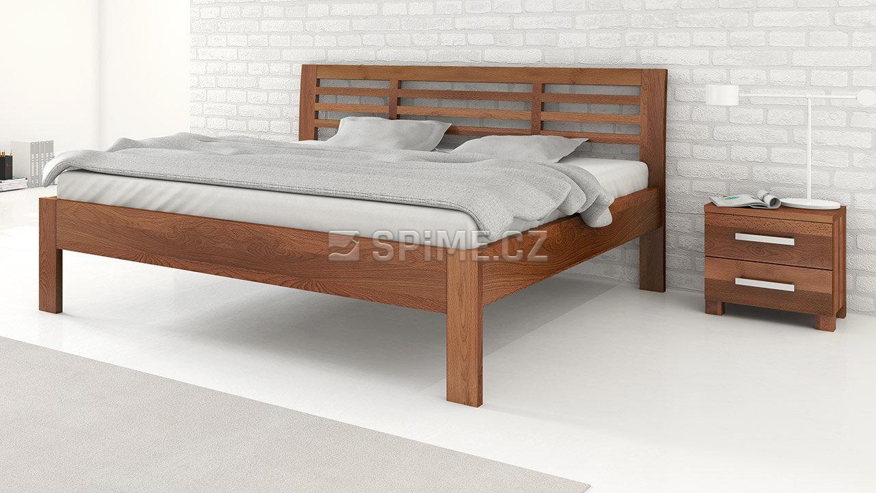 Dřevěný noční stolek z masivu VERONA, Materiál: Masiv Buk 4 cm, Odstín: Olej Schoko Braun #02