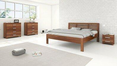 Dřevěný noční stolek z masivu VERONA, Materiál: Masiv Buk 4 cm, Odstín: Olej Schoko Braun #03