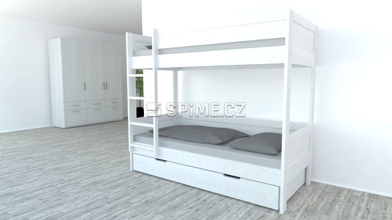 Patrová postel z masivu BAMBINO Buk