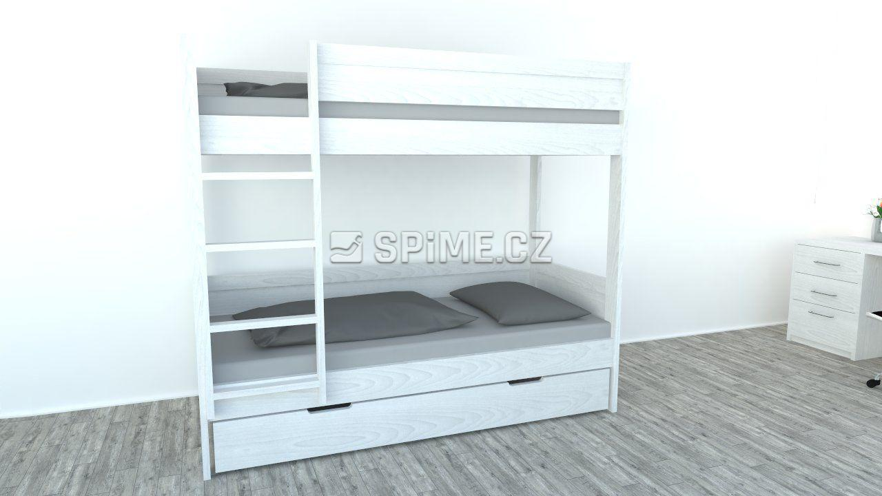 Patrová postel z masivu BAMBINO Buk-02