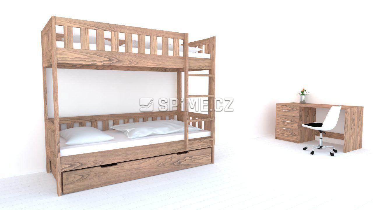 Patrová postel z masivu CHILD Buk 90-90