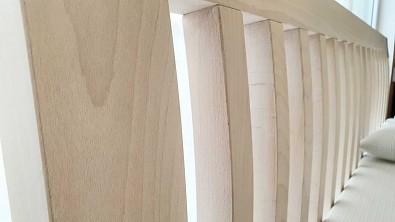 Postel z masivu s úložným prostorem BELNA Buk, Olej Nordic White
