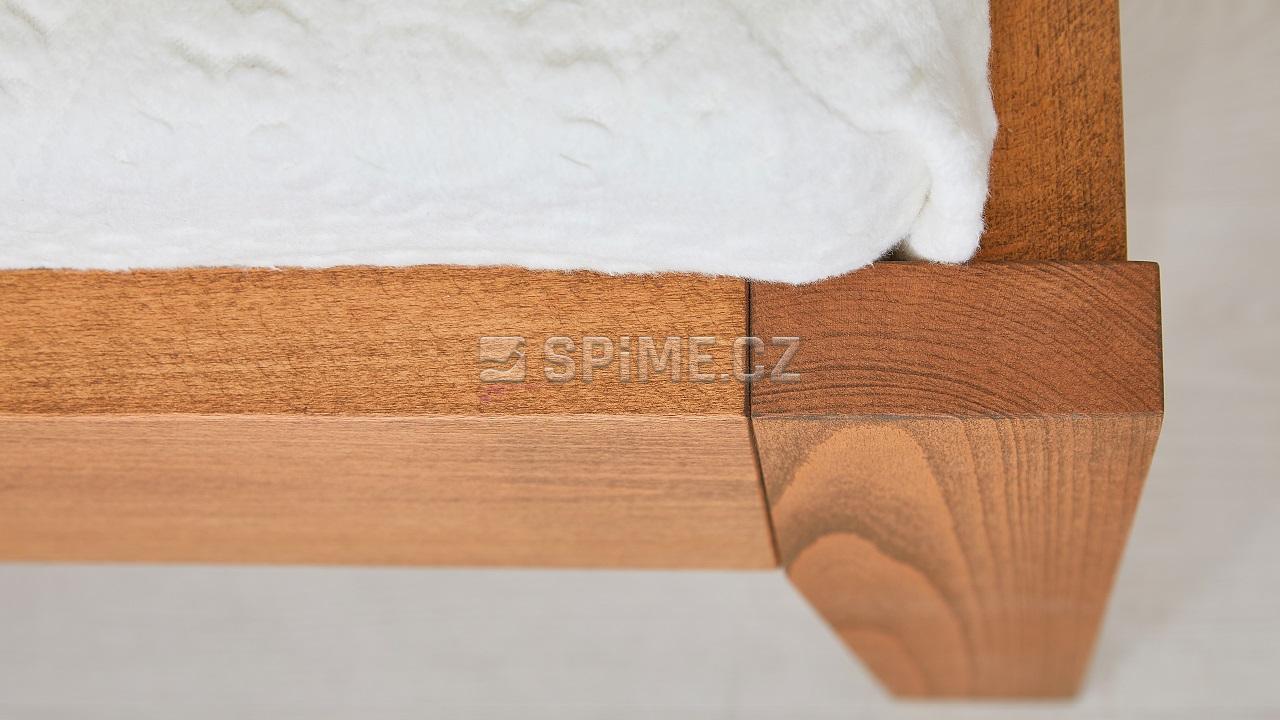 Postele z masivu GITA buk nožní čelo